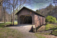 Thomas Malone Covered Bridge in Beaver Creek State Park, Ohio.