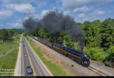 RailPictures.Net Photo: NW 611 Norfolk & Western Steam 4-8-4 at Front Royal, Virginia by Marc Glucksman/River Rail Photo