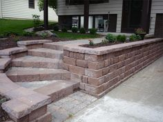 Front entry walkway and steps.