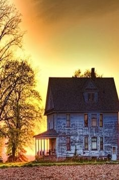 Old Farm House At Sunset