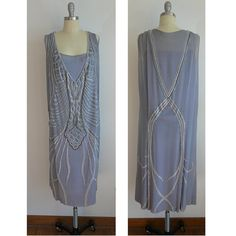 Exquisite 1920s Silk Chiffon Dress by EmmaPaigeDesign on Etsy, $1500.00