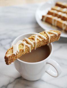 Almond Biscotti with Maple Glaze