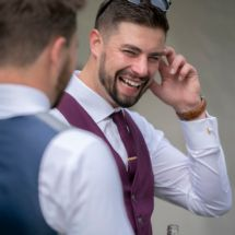 The Groom at a Groom Prep at a Wedding at Darington Hall, Totnes, Devon Corporate Portrait, Recent News, Groom And Groomsmen, Hot Days, Devon, Portrait Photographers, Laughter, Prepping, Best Friends