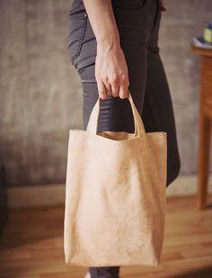 DIY: suede book bag