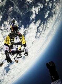 Skydiving at 33,000 feet.