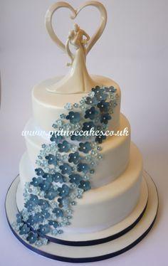 Cascade of blue flowers, a customer favourite