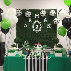 Party ideas Soccer Birthday Parties, Kylie Birthday, Football Birthday, Adult Birthday Party, Soccer Party, Balloon Decorations, Birthday Party Decorations, Soccer Baby Showers, Party Themes For Boys