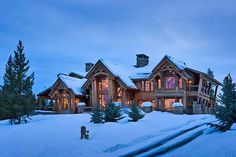 <3<3<3 Rustic-contemporary mountain lodge in Big Sky <3<3<3