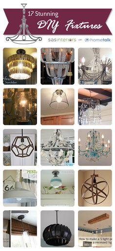 17 Stunning DIY Lighting Fixtures chosen by @Jenna_Burger of SASinteriors.net, featured on HomeTalk