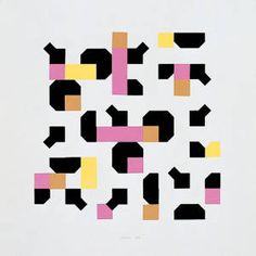 "bruno munari - ""colori nella curva di peano"" (1995) http://decdesignecasa.blogspot.it"