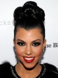 kourtney kardashian high bun hairstyle - Google Search