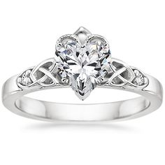 18K White Gold Celtic Claddagh Ring from Brilliant Earth -- Absolutely love this design =3