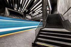 Photographer Chris Forsyth, captured the particular atmosphere and the atypical architecture of the Montreal Metro