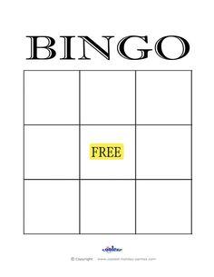 Bingo Card Templates Cards  Bingo Template Template And Bingo