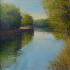 David Skinner is a contemporary landscape painter based in Asheville, North Carolina. Located in the River Arts District, David offers classes, workshops, and sells his originals and prints. Contemporary Landscape, Reflection, Ireland, River, Canvas, Prints, Painting, Art, Tela