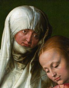 """Virgin and Child with Saint Anne"""" (detail), c.1519, Albrecht Durer."""
