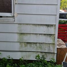 Mold mildew removal off vinyl siding ck out more pics - How to remove mold stains from car interior ...
