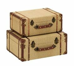 Old Look Burlap Travel Suitcase Set by Benzara. $82.51. All returns/exchanges must be made within 14 days of receipt of the merchandise. . Unwanted product returns will be subject to a 15% restocking fee.. We must be notified of the defect within 5 days of the product delivery, otherwise return policy is voided, no exceptions. . We guarantee against manufacturers' defects for 14 days from the date of the delivery. . Important Features: _Made of wood and burlap _Size...
