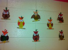 Owl ornaments-1st Grade (art teacher: v. giannetto)