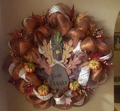 Always Give Thanks wreath!!