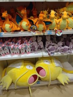 Pokemon Photos from Tokyo - Gold Magikarp Charizard Dragonite Mewtwo Sylveon plush dolls