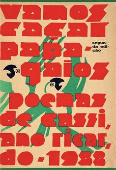 Capa modernista de Belmonte para o livro Vamos caçar papagaios, de 1933