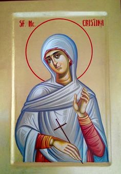 St. Christina - July 24 Catholic Beliefs, Catholic Art, Catholic Saints, Christianity, Religious Icons, Religious Art, Santa Cristina, True Faith, Byzantine Art