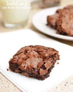Double chocolate brownies. http://lmld.org/