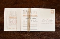 Wedding Invitation Vintage Modern Whimsical // by DesignsbyXO, $2.00
