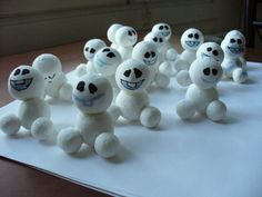 I'm making decorations for a little girl's Frozen Fever party...here's few snowgies! DYI snowgies
