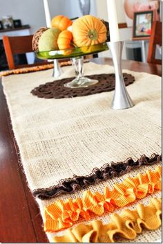 Thanksgiving table runner; use pastels for Easter