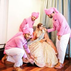 "Lucky is the girl who gets pampered by her brothers!! Comment if you are the lil princess of your brother's world who will treat you like ""Choti si Nanhi Si Pyari Si"" even on your D-day. . . FOLLOW @eventilaindia for brother-sister #love . . Book #weddingphotography services through us. . Shot by @devasyahstudios . . #brothers #brothersisterlove #brosis #brotherlylove #lilprincess #brothersister #brosis #brothersisterbond #weddingday #pamper #bridesmen #bridal #weddingfun #bridalinspiration…"