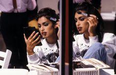 duneve:  Yasmeen Ghauri backstage, early 90s  x
