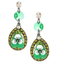 ✫✫ASOS Rhinestone & Pansy Drop Earrings ✫✫BNWOT RRP £15 in Jewellery & Watches, Costume Jewellery, Earrings | eBay