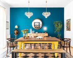 Casinha colorida: Em cores: um décor muito legal.