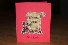 Happy Birthday   cross stitch card