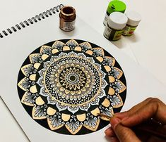 tattoo - mandala - art - design - line - henna - hand - back - sketch - doodle - girl - tat - tats - ink - inked - buddha - spirit - rose - symetric - etnic - inspired - design - sketch Mandala Art Lesson, Mandala Doodle, Mandala Artwork, Mandala Drawing, Mandala Painting, Doodle Art, Om Art, Mandela Art, Dot Art Painting