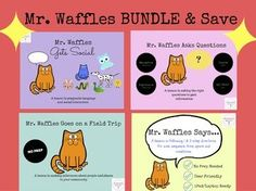 Thank you for viewing this 4-Set Mr. Waffles Bundle from The Whimsical Word, Inc.  In this Bundle, you will receive the 4 top selling Waffles Lessons.  Each lesson targets 4 different skill sets for students who are elementary age.  Lessons are all designed to be NO PRINT- a digital lesson that can easily be displayed on an iPad, laptop, SMART Board or teletherapy platform.