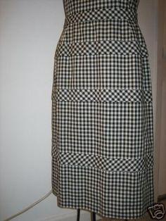 Peggy Hunt gingham dress skirt