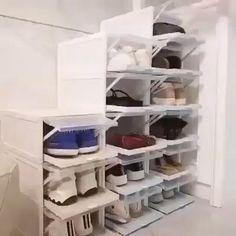 Shoe Storage, Storage Rack, Diy Storage, Storage Shelves, Storage Design, Bedroom Storage, Kitchen Storage, Storage Ideas, Shoe Drawer