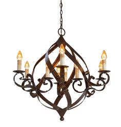 Cottage Home Furniture | Wrought Iron Chandeliers & Sconces