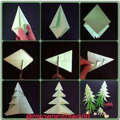 #diy #doityourself #origami #origamidiy #myowninstadiy #christmas #jul #juletræ #paperart #homedecoration #indretning #boligindretning #bolig #krea #kreamig #beautiful