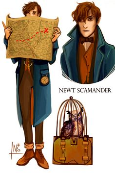 Fantasic Beasts and Where to Find Them - Newt Scamander by nastjastark