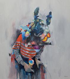 Joram Roukes collage oil paintings