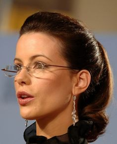 Kate Beckinsale wearing rimless glasses