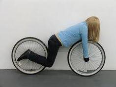 The woman bike