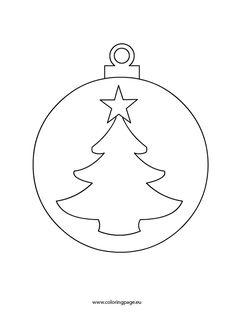 Christmas Ornament Coloring Page, Christmas Ornament Template, Christmas Templates, Christmas Baubles, Felt Christmas, Christmas Colors, Christmas Crafts, Christmas Text, Printable Christmas Decorations
