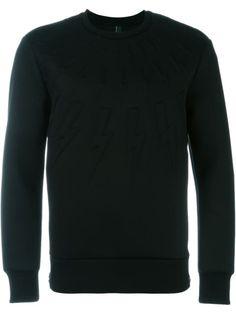 NEIL BARRETT 'Thunder' Sweatshirt. #neilbarrett #cloth #sweatshirt
