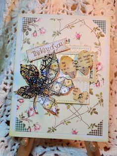 Butterflies, #stampendous, #annagriffin, Cuttlebug, die cut, card