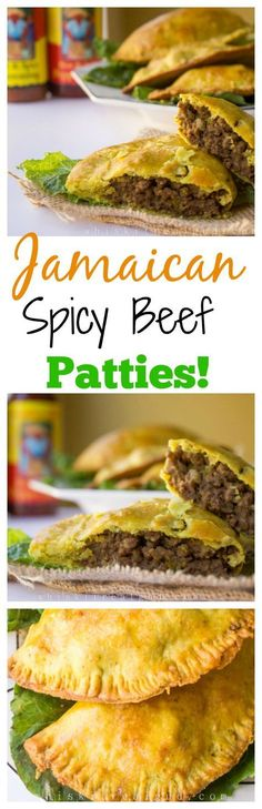 Jamaican Beef Patties With Perfect Flaky Crust.These have the best crust ever! - Jamaican Beef Patties With Perfect Flaky Crust.These have the best crust ever! Jamaican Cuisine, Jamaican Dishes, Jamaican Recipes, Beef Recipes, Cooking Recipes, Sirloin Recipes, Kabob Recipes, Fondue Recipes, Healthy Recipes